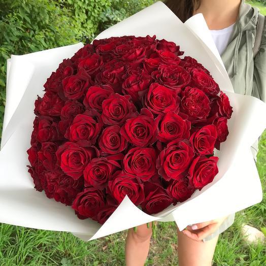 Букет из 55 роз Эквадор