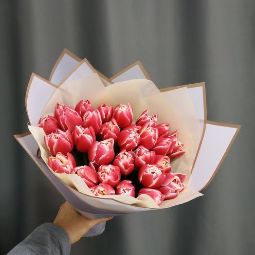 """Букет""""29 пионовидных тюльпанов"""""""