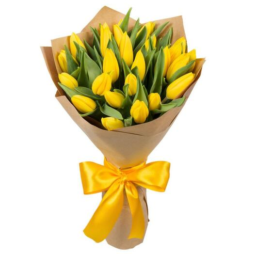 25 желтых тюльпанов Голландия