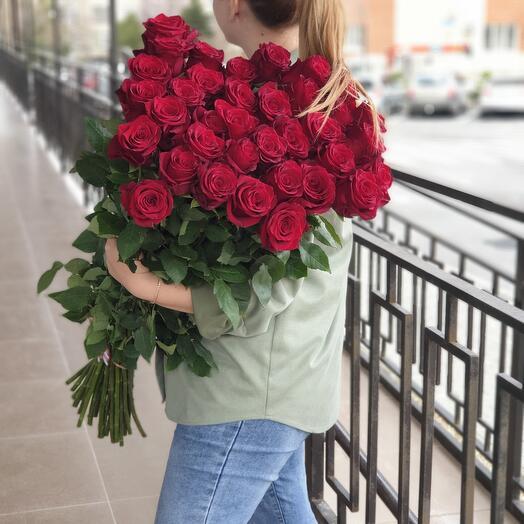 Роза 90см 21 шт