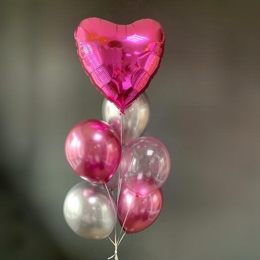 """Большой набор воздушных шаров с """"Сердцем"""""""