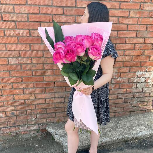 Букет роз гигант 80см