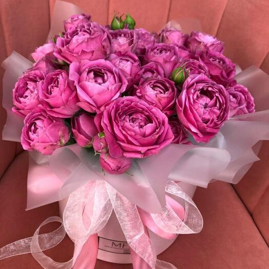 Коробочка из пионовидной розы