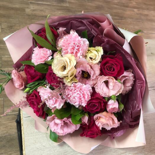 Бордово - розовый букет