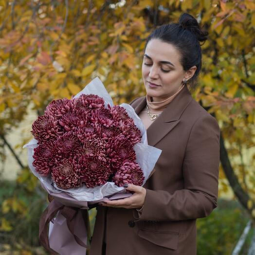 Букет хризантема Бигуди 55