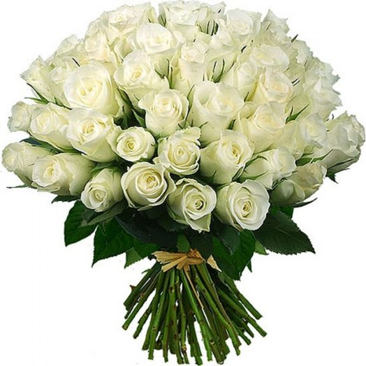 Букет №4 101 Белая роза: букеты цветов на заказ Flowwow