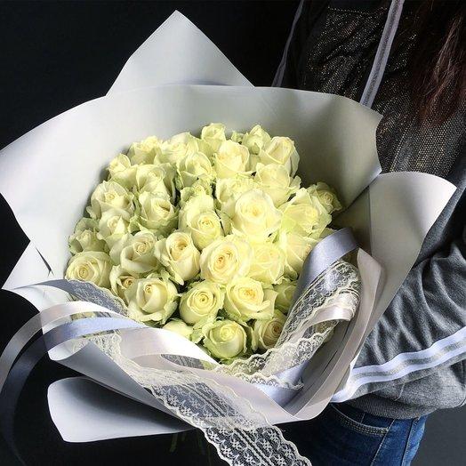Букет белых роз «Нежные чувства»