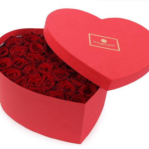Сердце с ароматными розами: букеты цветов на заказ Flowwow