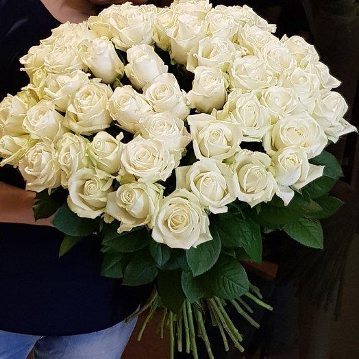 Букет из 49 белых роз 50 см: букеты цветов на заказ Flowwow