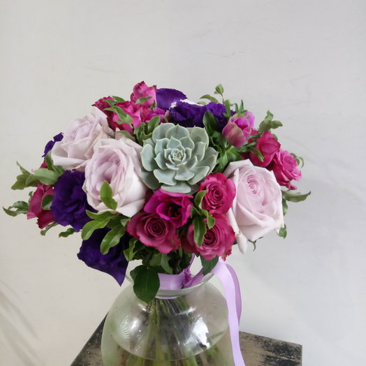 Яркое сочетание цветов: букеты цветов на заказ Flowwow