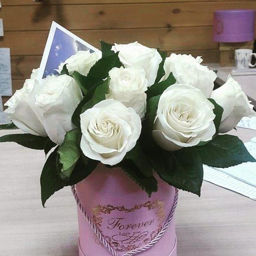 Аквабокс с белой розой