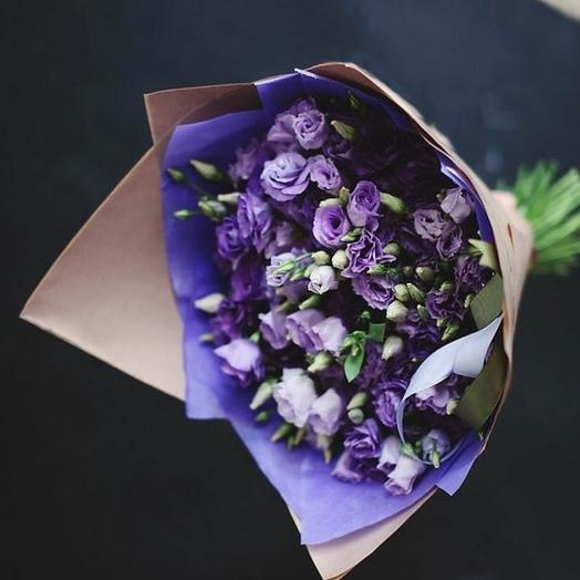 Букет из лавандовой эустомы: букеты цветов на заказ Flowwow