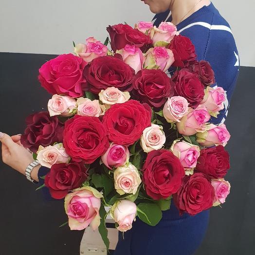 Роза микс: букеты цветов на заказ Flowwow