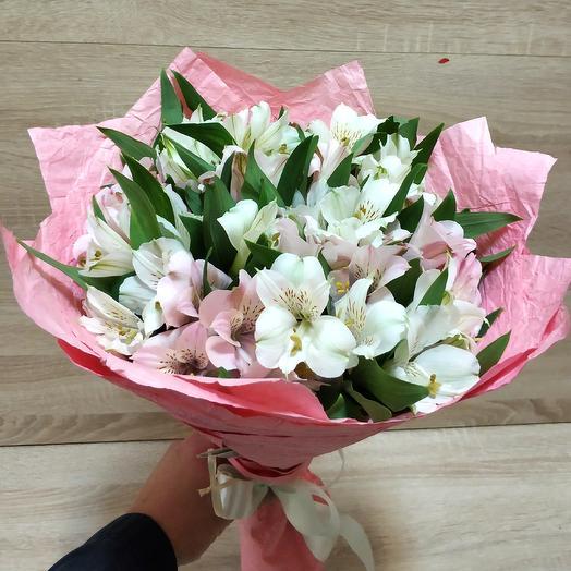 Букет из нежных альстромерий: букеты цветов на заказ Flowwow