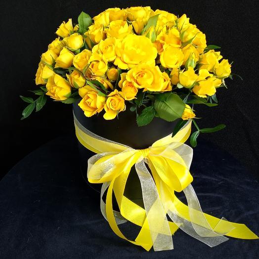 Цветы в коробке 26: букеты цветов на заказ Flowwow