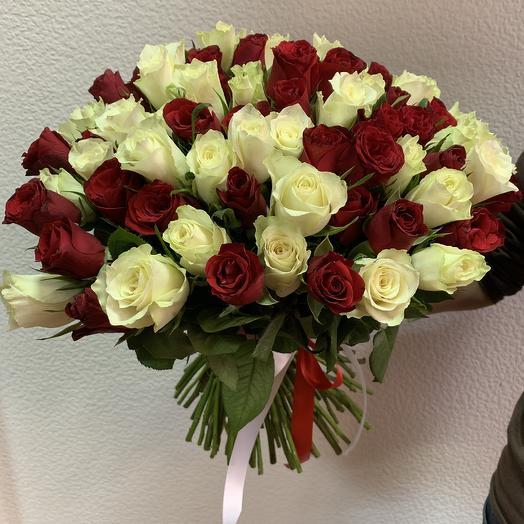 Инь и Ян: букеты цветов на заказ Flowwow