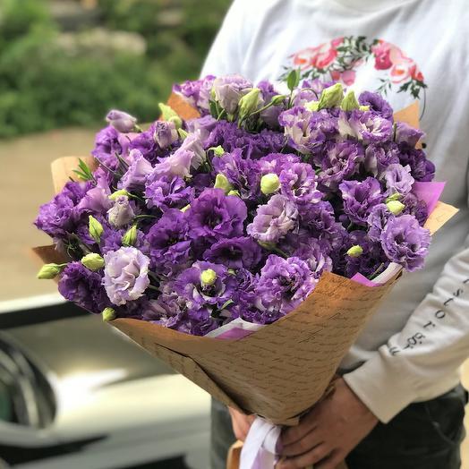 Эустома. Букет из 29 фиолетовой эустомы. N483: букеты цветов на заказ Flowwow
