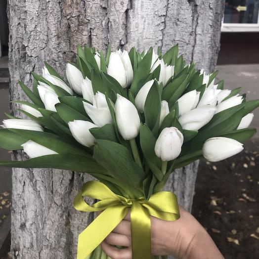 Белая пелена: букеты цветов на заказ Flowwow
