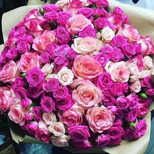 Букет «Розовое очарование»