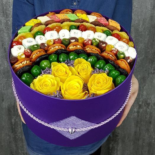 Подарочная коробка Эксклюзив: букеты цветов на заказ Flowwow