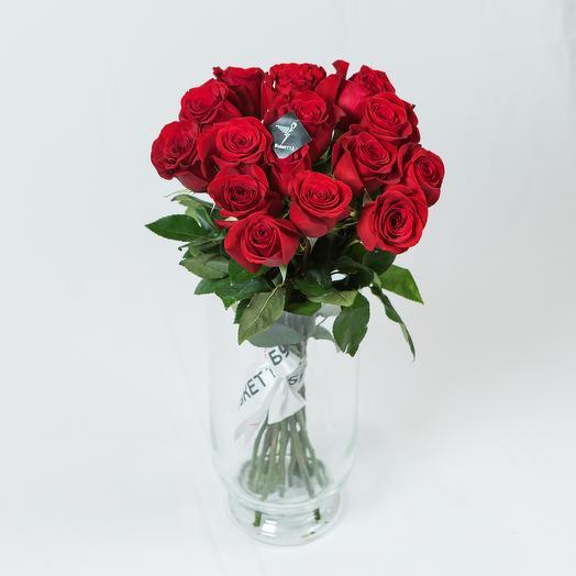 """Букет """"MONORED-15"""" 60 см: букеты цветов на заказ Flowwow"""