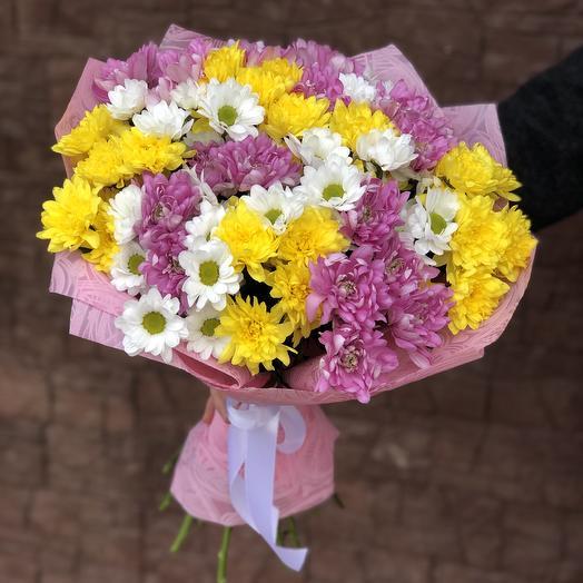 Bouquet Chrysanthemums multicolor
