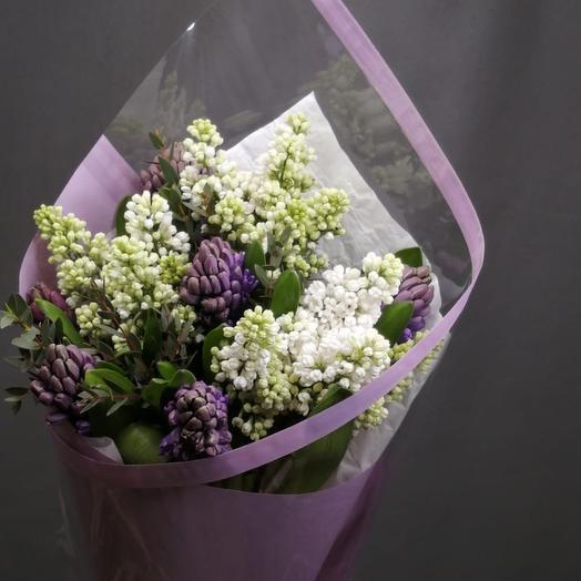 Букет из сирени, гиацинтов: букеты цветов на заказ Flowwow