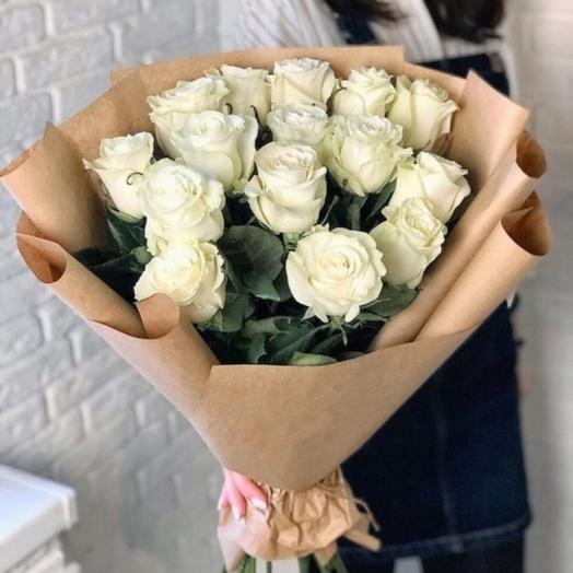 Букет белых роз премиум качества
