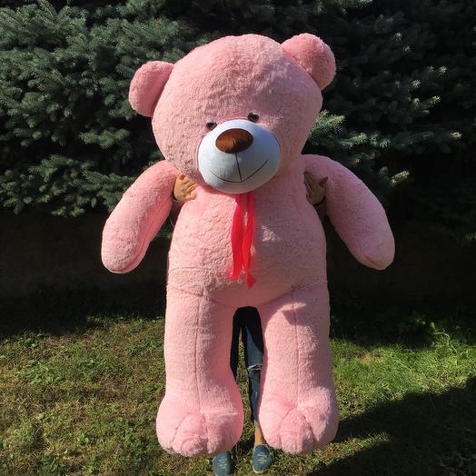 Плюшевий ведмедик 200 см рожевий