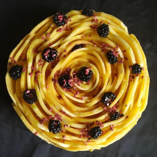 Манговый торт rawcake