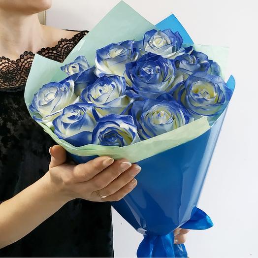 Бриллиант💎 розы синие