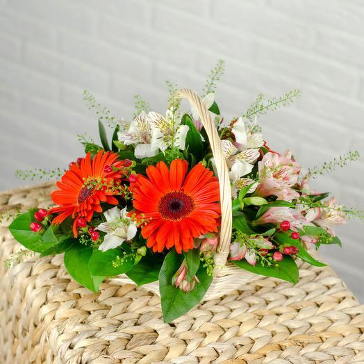Корзинка цветочная микс