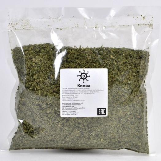 Кинза (кориандр) зелень сушеная резаная, 100г
