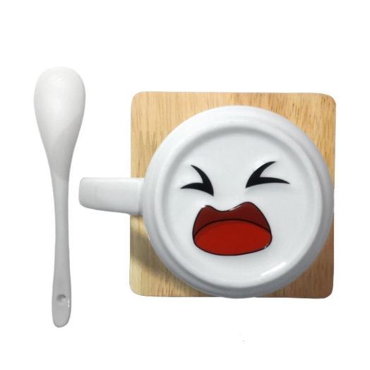 Кружка Grumpy Smile с ложкой