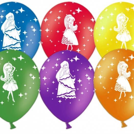 Шар с гелием детский для девочки ( рисунки микс)