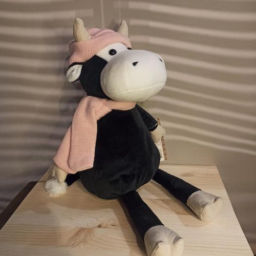 Коровка в шапочке