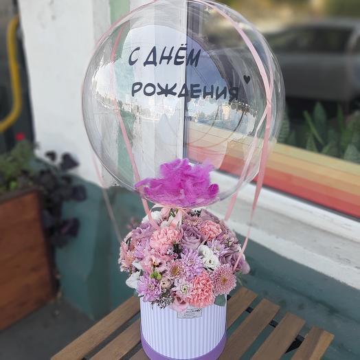 Цветы в коробке💜💗
