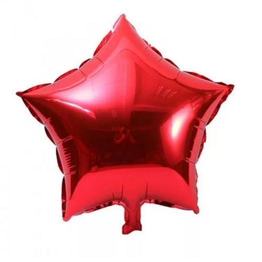 Шар фольгированный красная звезда