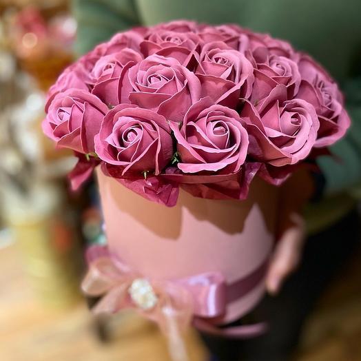 Композиция из мыльных роз