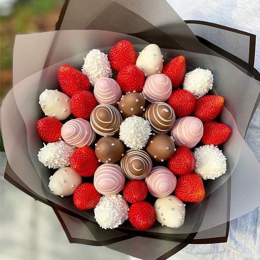 Букет из клубники в Шоколаде Любимый