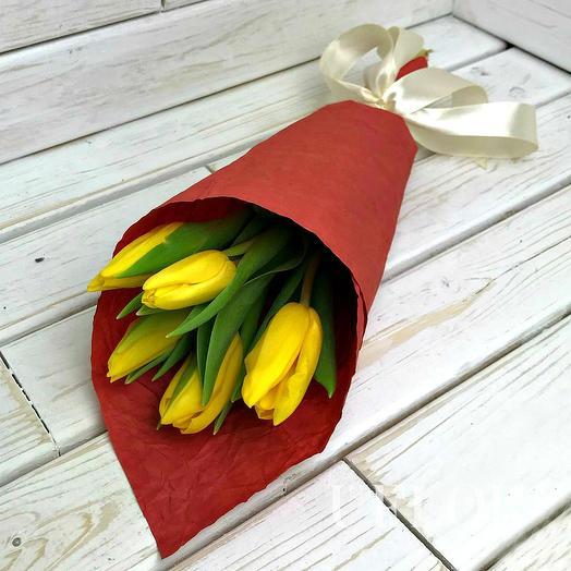 5 тюльпанов (микс)