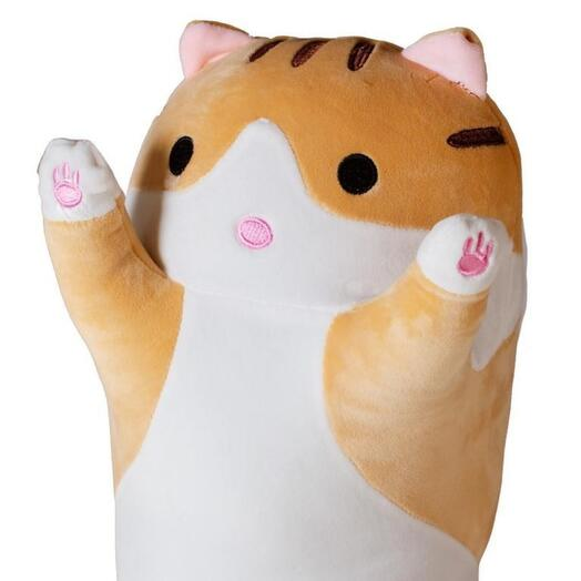 """Плюшевый рыжий кот """"Сдаюсь"""" 70 см"""