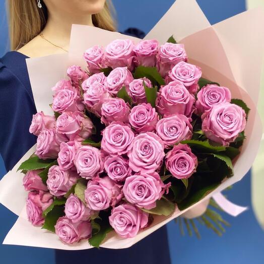 Букет из 41 лиловых роз