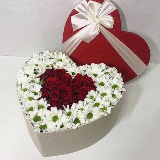 Сердце с цветами