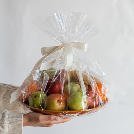 Тарелка с фруктами подарочный набор