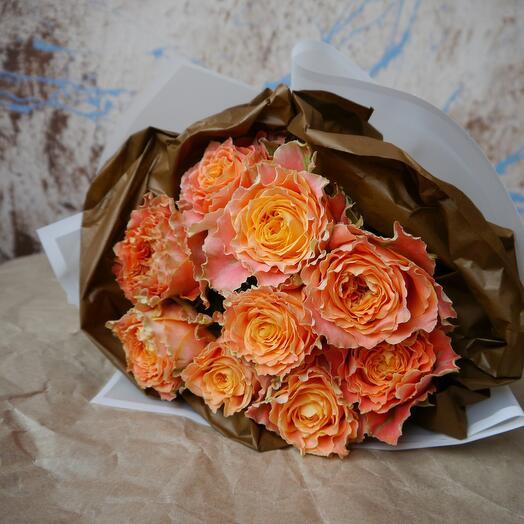 Монобукет кудрявые розы