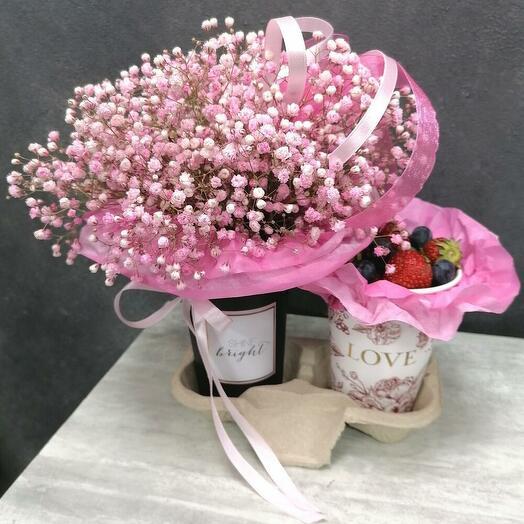💘Пара стаканчиков💘: цветы и ягоды