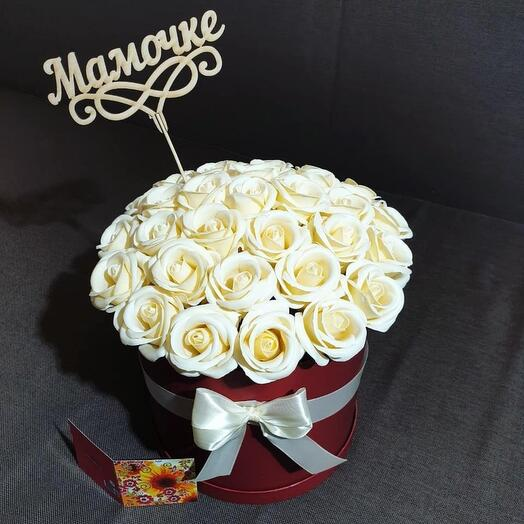 """Композиция из 31 мыльной розы """"Мамочке"""""""