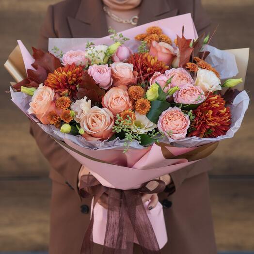 Букет с хризантемой 8