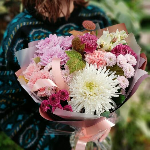 Хризантемы и диантусы